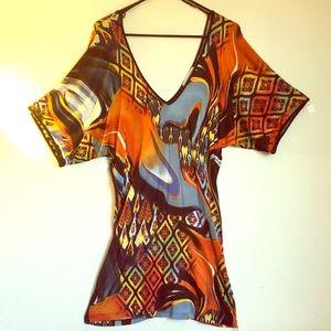 Fun Coloful Lightweight Dress for Summer Fun!